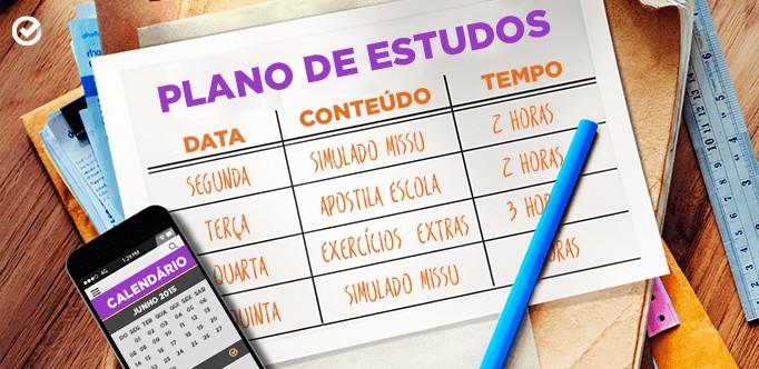 Plano de estudo