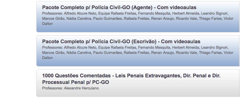 material gratuito Polícia Civil Goias