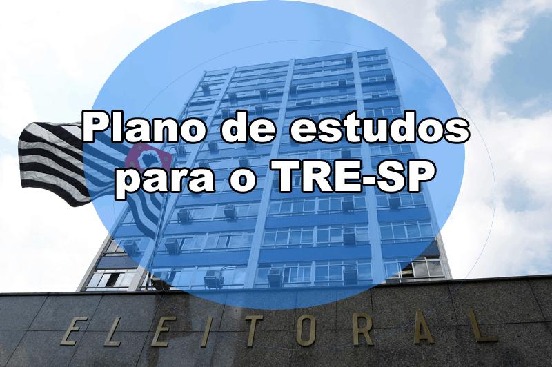 Cronograma de estudos para o TRE-SP