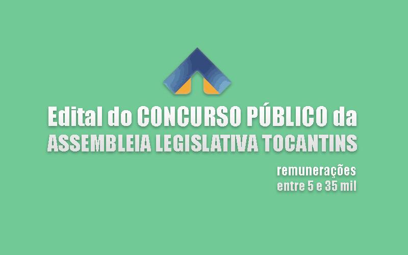 edital da assembleia legislativa de tocantins