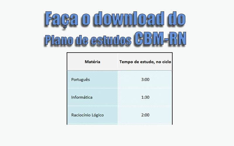 plano de estudos cbmrn 2017