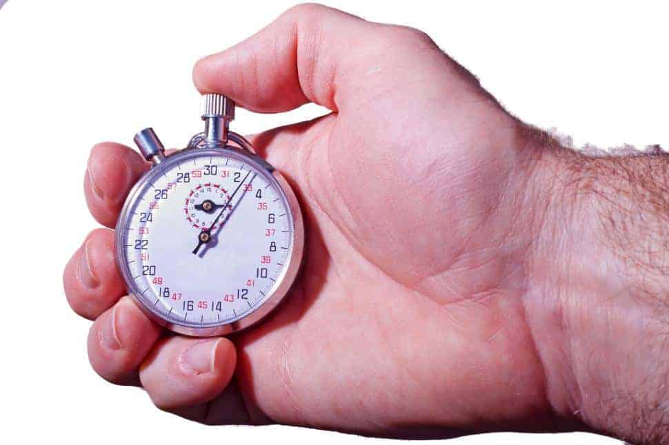 controlar o seu tempo de prova