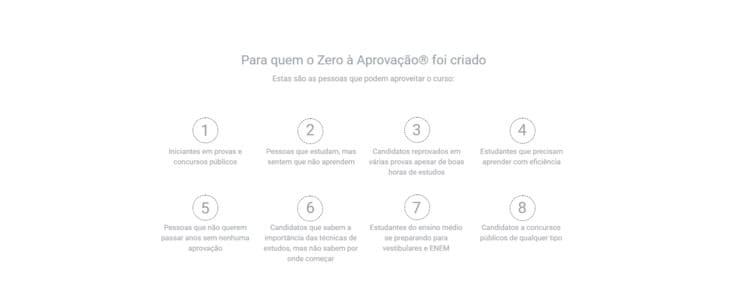 Curso Zero à aprovação