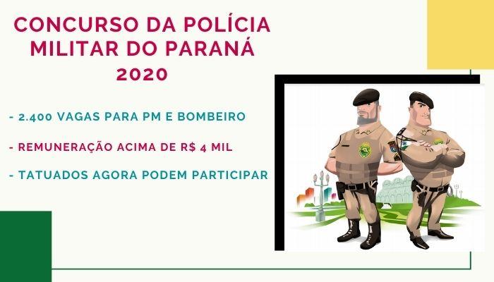 concurso da Polícia Militar do Paraná